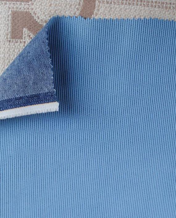 """Ткань Джинс """"С голубым покрытием"""" 0029 цвет голубой картинка 1"""
