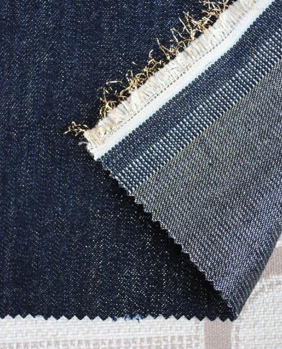 """Ткань Джинс """"Золотая пыль"""" 0032 цвет синий картинка"""