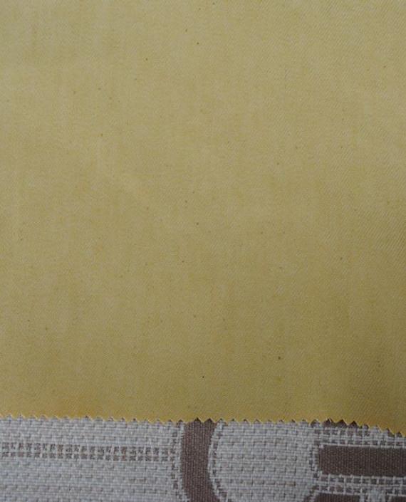 """Ткань Джинс """"Желтый"""" 0034 цвет желтый картинка 1"""