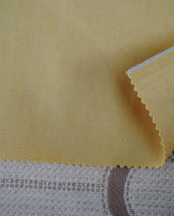 """Ткань Джинс """"Желтый"""" 0034 цвет желтый картинка"""