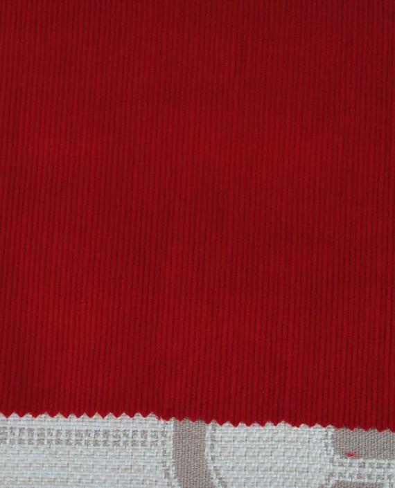 """Ткань Вельвет """"Красный"""" 0002 цвет красный картинка 1"""