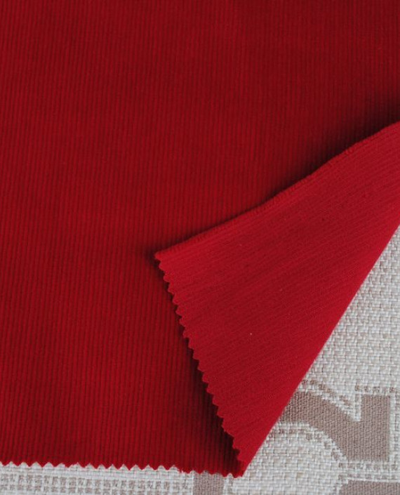 """Ткань Вельвет """"Красный"""" 0002 цвет красный картинка"""