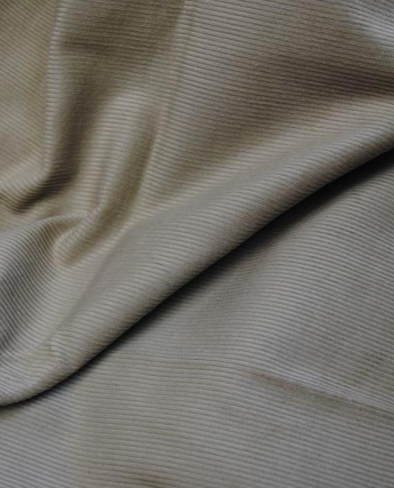 "Ткань Вельвет ""Рифленый"" 0003 цвет серый картинка 1"