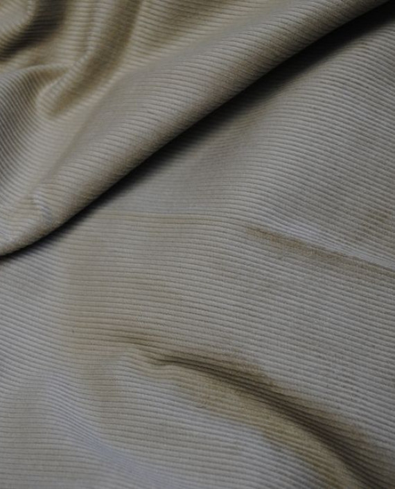 "Ткань Вельвет ""Рифленый"" 0003 цвет серый картинка 2"
