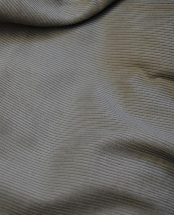 "Ткань Вельвет ""Рифленый"" 0003 цвет серый картинка"