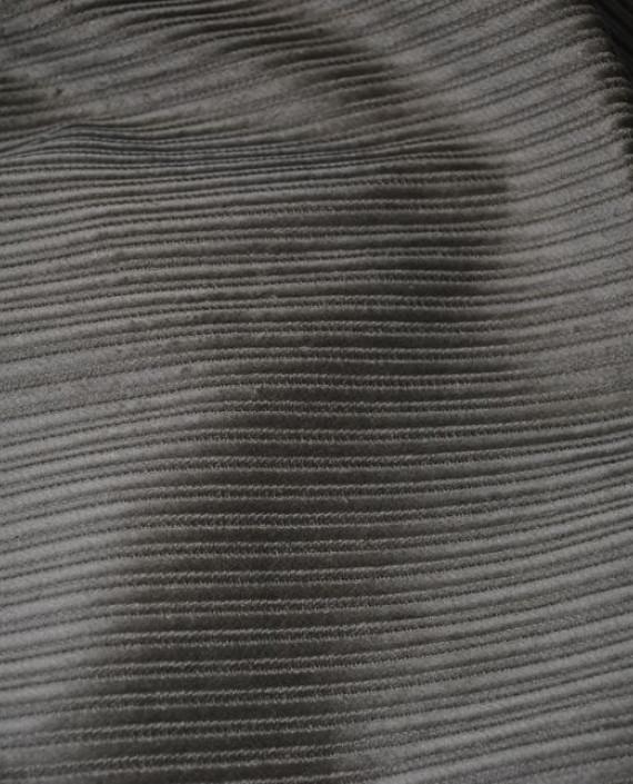 """Ткань Вельвет """"Рубчик"""" 0004 цвет серый картинка"""