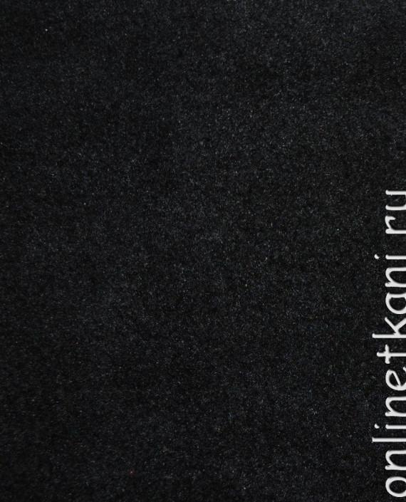 """Ткань Флис """"Черный"""" 0008 цвет черный картинка"""