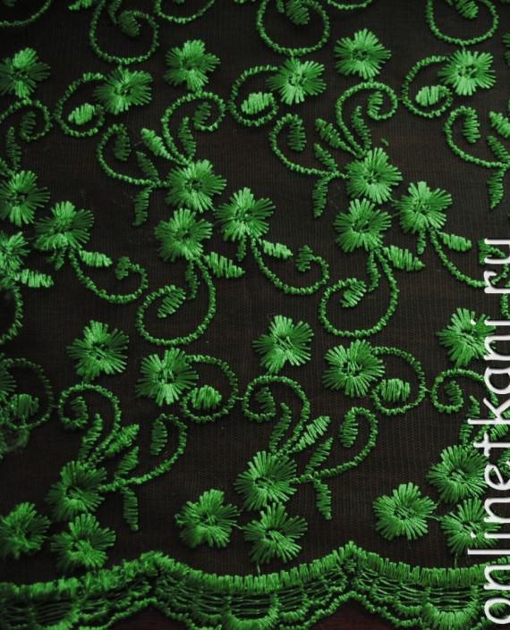"Ткань Гипюр ""Салат"" 050 цвет зеленый абстрактный картинка 2"