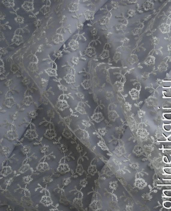 """Ткань Гипюр """"Нежность"""" 053 цвет белый цветочный картинка"""