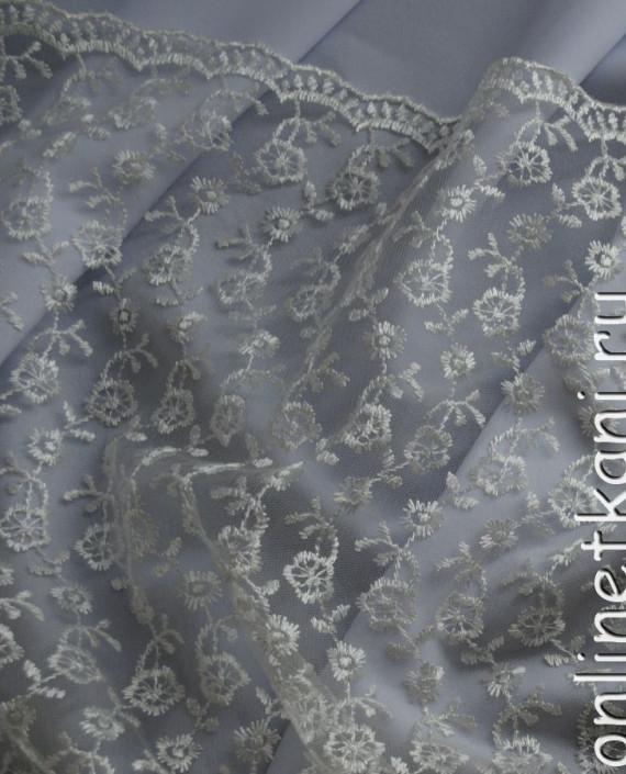 """Ткань Гипюр """"Нежность"""" 053 цвет белый цветочный картинка 2"""