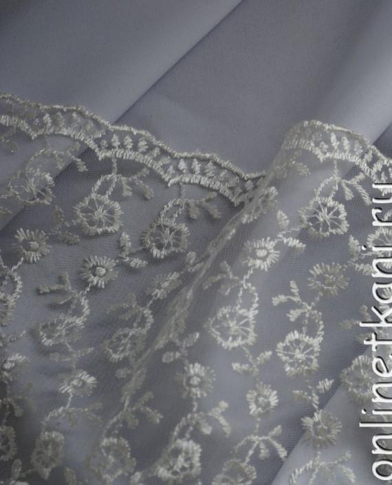 """Ткань Гипюр """"Нежность"""" 053 цвет белый цветочный картинка 3"""