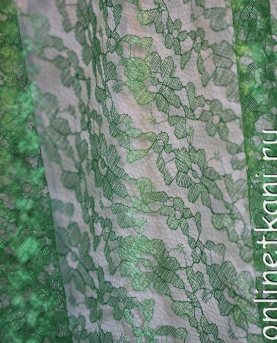 """Ткань Гипюр """"Зеленый"""" 007 цвет зеленый картинка 2"""