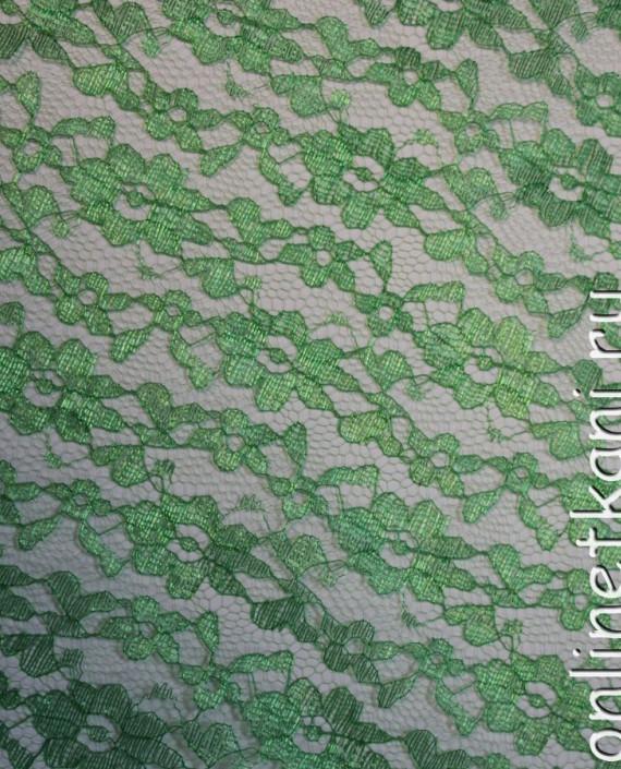 """Ткань Гипюр """"Зеленый"""" 007 цвет зеленый картинка"""