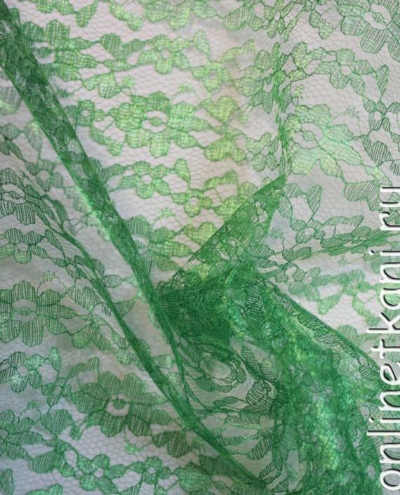 """Ткань Гипюр """"Зеленый"""" 007 цвет зеленый картинка 1"""