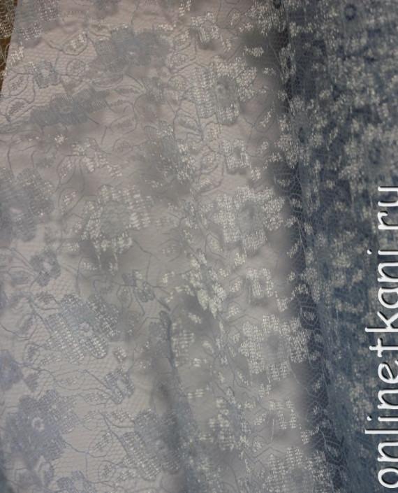 """Ткань Гипюр """"Белый"""" 009 цвет белый цветочный картинка 1"""