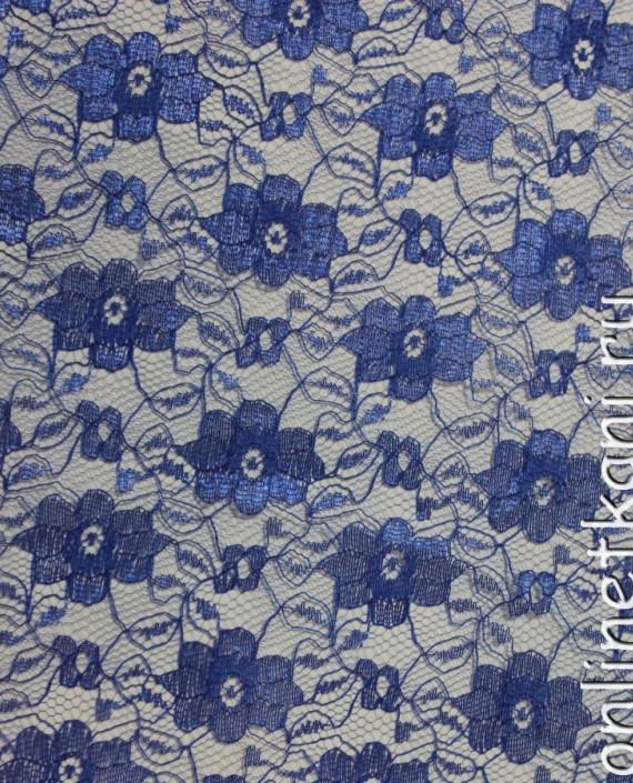 "Ткань Гипюр ""Синий"" 012 цвет синий цветочный картинка"