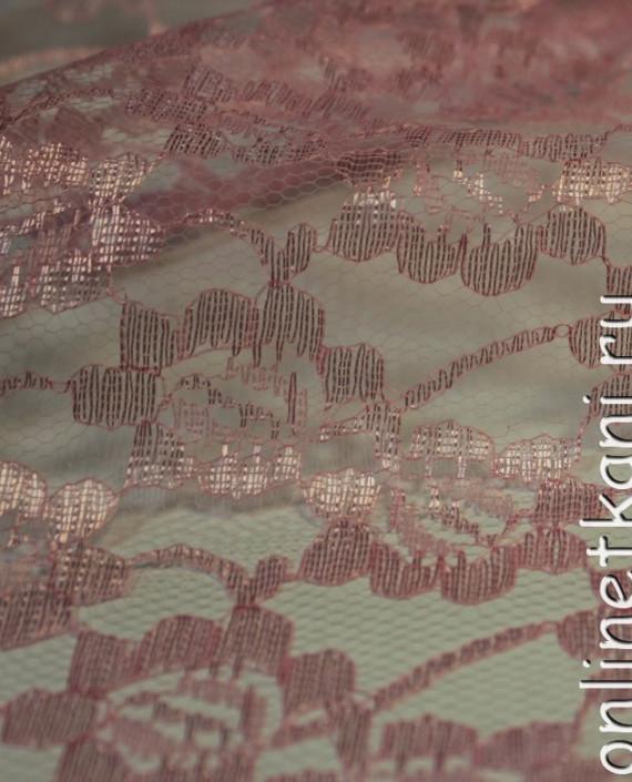 """Ткань Гипюр """"Нежно Розовый"""" 013 цвет розовый цветочный картинка 2"""