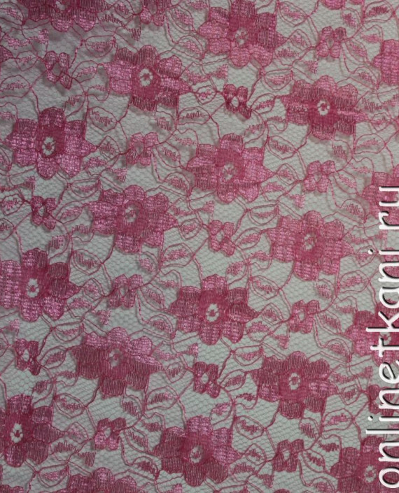 """Ткань Гипюр """"Коралл"""" 014 цвет малиновый цветочный картинка"""