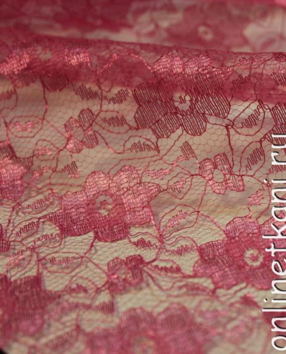 """Ткань Гипюр """"Коралл"""" 014 цвет малиновый цветочный картинка 1"""