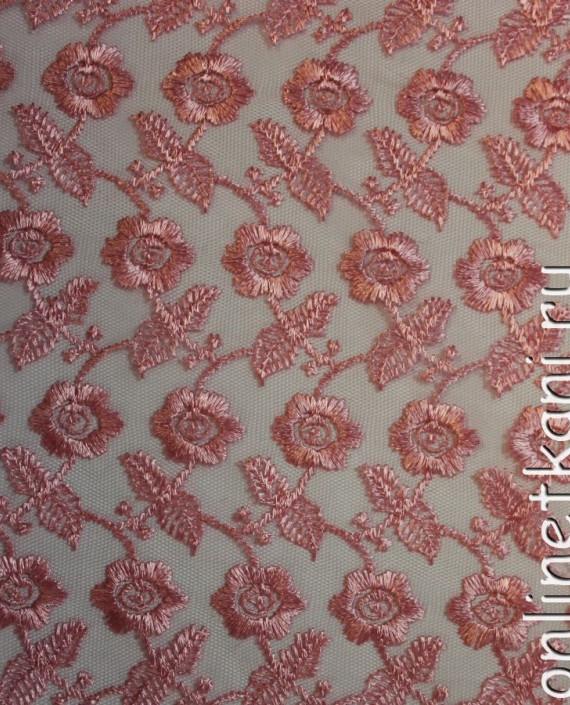 """Ткань Гипюр """"Розовый"""" 015 цвет розовый картинка"""