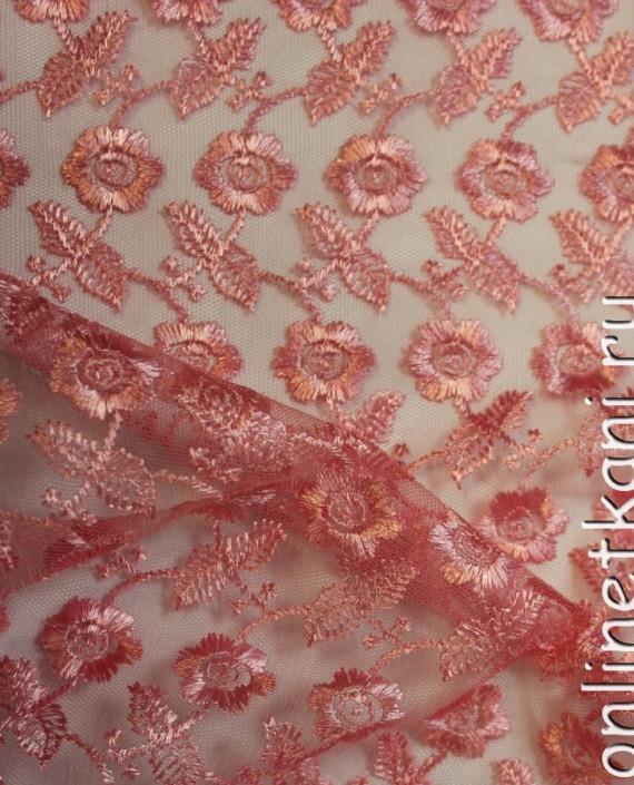 """Ткань Гипюр """"Розовый"""" 015 цвет розовый картинка 3"""