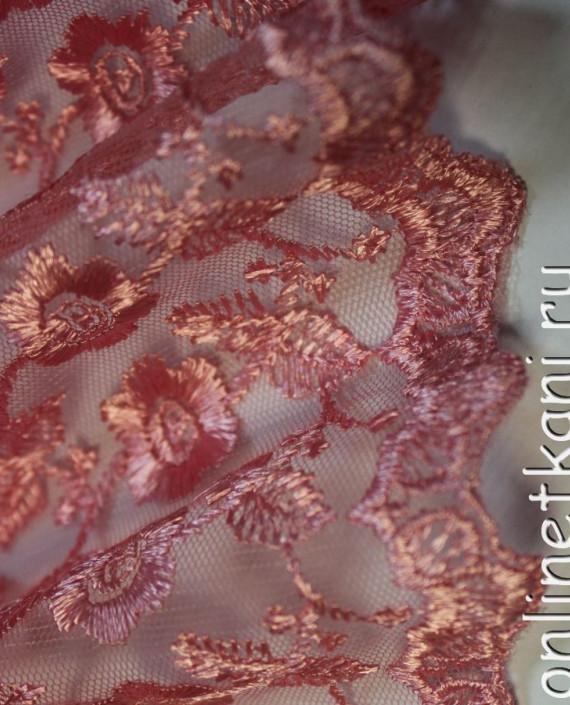 """Ткань Гипюр """"Розовый"""" 015 цвет розовый картинка 1"""