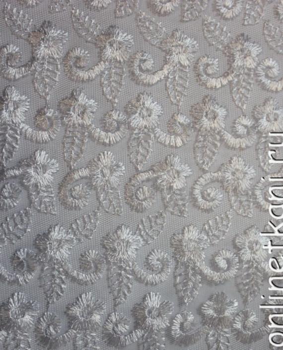 """Ткань Гипюр """"Белые цветы"""" 019 цвет белый цветочный картинка 1"""