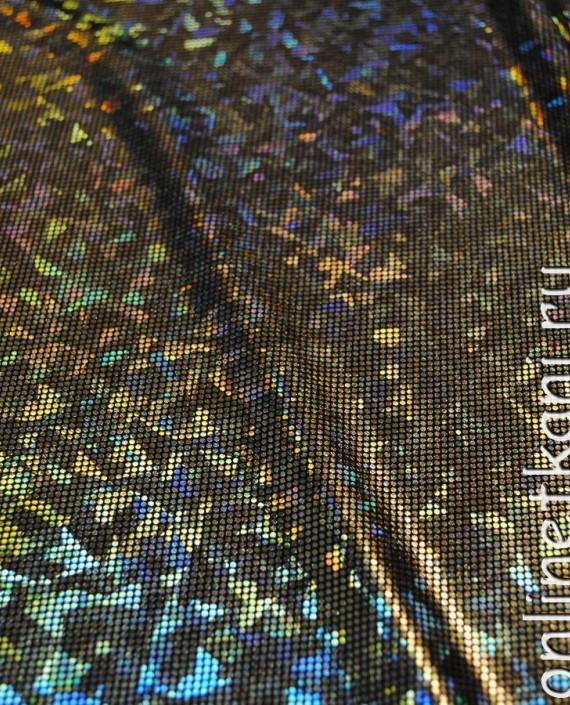 """Ткань голограмма """"Золотые соты"""" 002 цвет золотой картинка"""