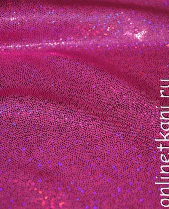"""Ткань голограмма """"Розовые блестки"""" 004 цвет розовый картинка"""