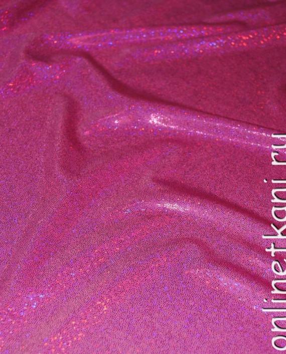 """Ткань голограмма """"Розовые блестки"""" 004 цвет розовый картинка 2"""
