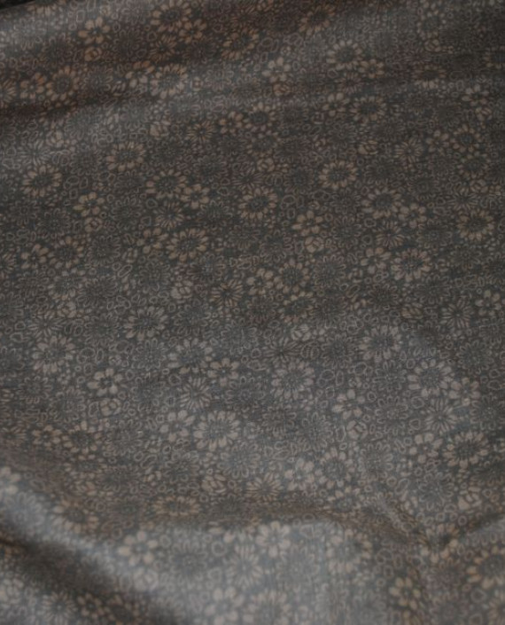"""Ткань Хлопок """"Травяной"""" 0002 цвет серый цветочный картинка 4"""