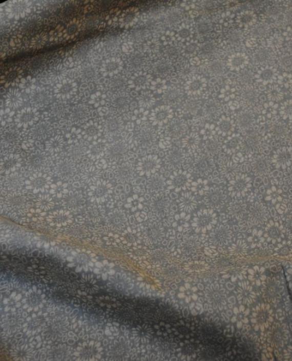 """Ткань Хлопок """"Травяной"""" 0002 цвет серый цветочный картинка 2"""