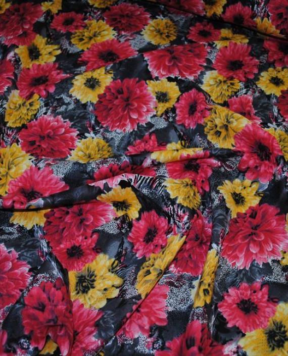 """Ткань Хлопок """"Пионы"""" 0006 цвет разноцветный цветочный картинка 1"""