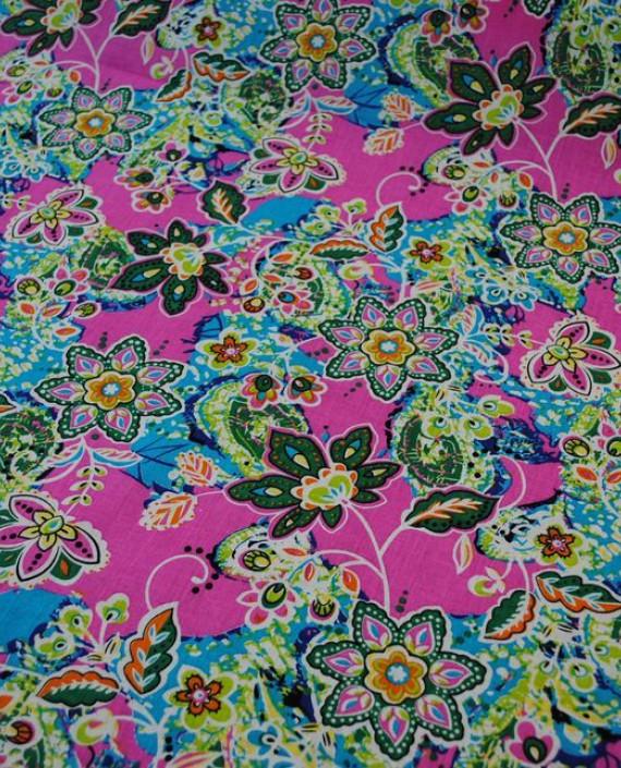 """Ткань Хлопок """"Цветочная поляна"""" 0007 цвет разноцветный цветочный картинка"""