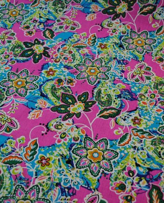"""Ткань Хлопок """"Цветочная поляна"""" 0007 цвет разноцветный цветочный картинка 1"""