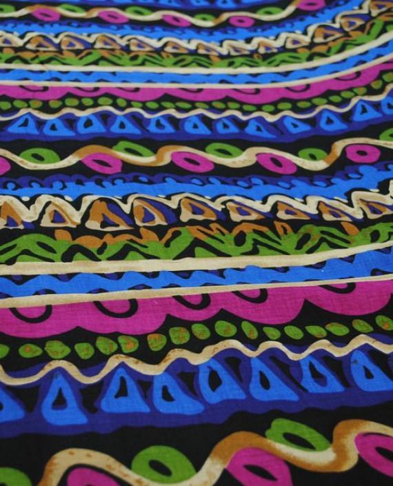 """Ткань Хлопок """"Батик"""" 0012 цвет разноцветный в полоску картинка 3"""