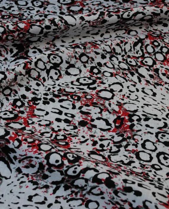"""Ткань Хлопок """"Галька"""" 0015 цвет белый геометрический картинка"""