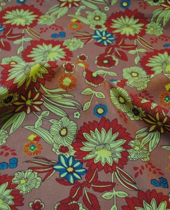 """Ткань Хлопок """"Цветочная поляна 2"""" 0019 цвет коричневый цветочный картинка"""