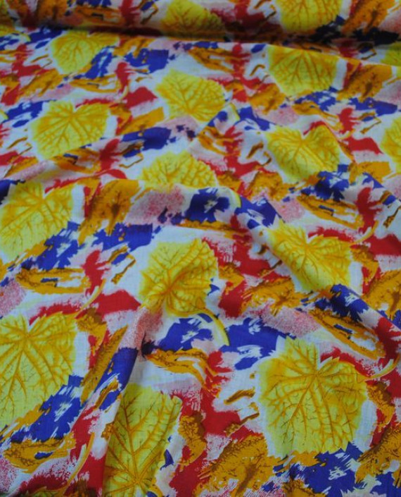 """Ткань Хлопок """"Золотые листья"""" 0021 цвет розовый абстрактный картинка 2"""