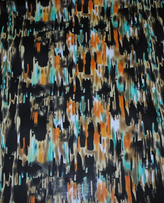 """Ткань Хлопок """"Темная рябь"""" 0022 цвет разноцветный абстрактный картинка"""
