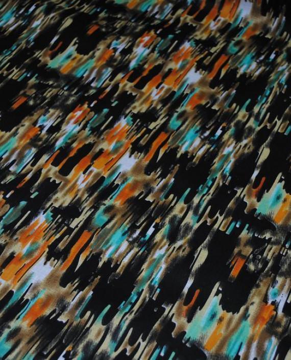 """Ткань Хлопок """"Темная рябь"""" 0022 цвет разноцветный абстрактный картинка 1"""