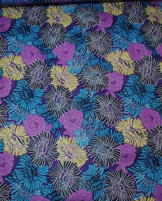 """Ткань Хлопок """"Астры"""" 0023 цвет разноцветный цветочный картинка 1"""