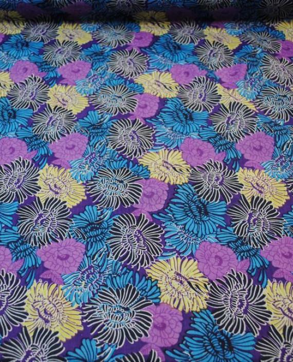 """Ткань Хлопок """"Астры"""" 0023 цвет разноцветный цветочный картинка"""