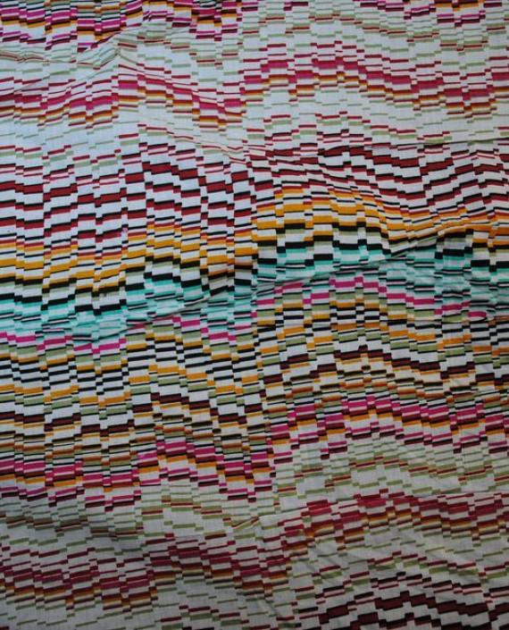 """Ткань Хлопок """"Цветная диаграмма"""" 0025 цвет разноцветный абстрактный картинка"""