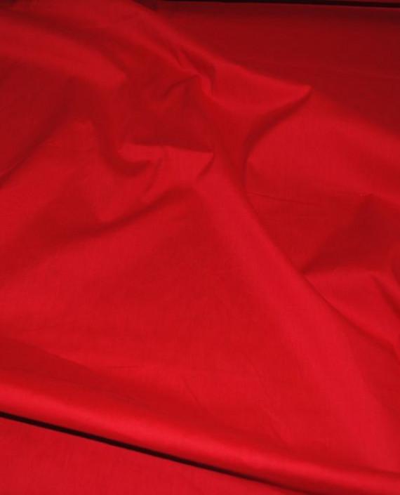 """Ткань Хлопок """"Алый"""" 0041 цвет красный картинка 1"""