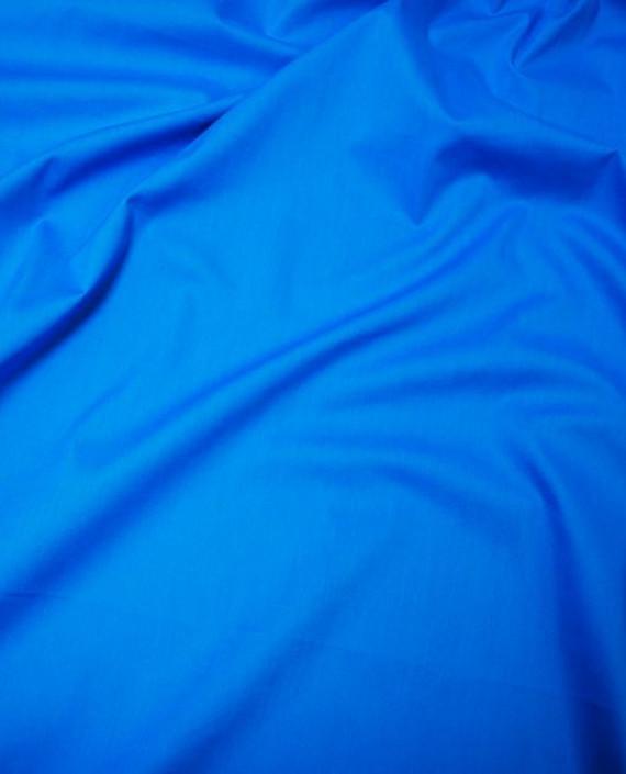"""Ткань Хлопок """"Лазурный"""" 0042 цвет синий картинка 2"""