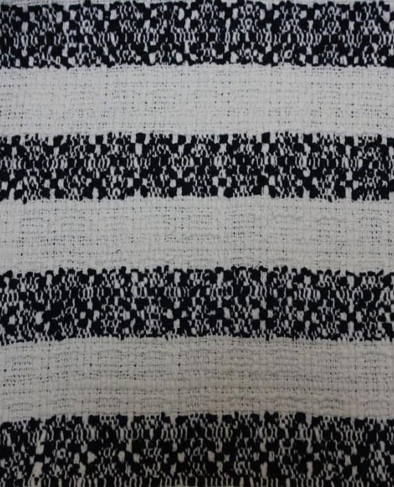 """Ткань Хлопок """"Белое и Черное"""" 4004 цвет разноцветный в полоску картинка"""