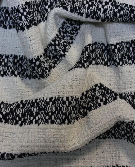 """Ткань Хлопок """"Белое и Черное"""" 4004 цвет разноцветный в полоску картинка 1"""