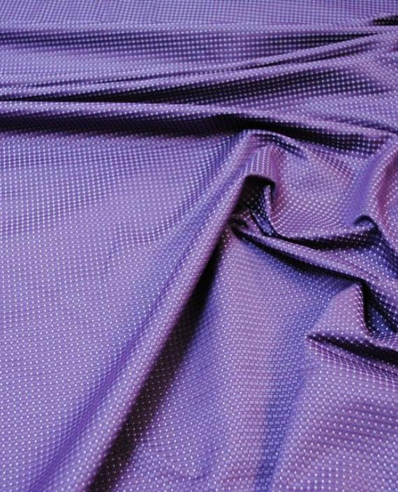 """Ткань Хлопок """"Тканый"""" 0003 цвет фиолетовый в горошек картинка 3"""
