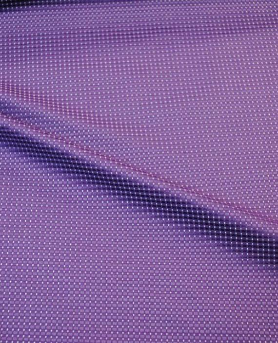 """Ткань Хлопок """"Тканый"""" 0003 цвет фиолетовый в горошек картинка 2"""